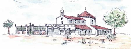La ermita está situada a 17 Km. de Badajoz